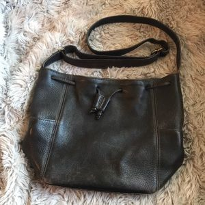 Authentic Coach Brown Leather Crossbody Bucket Bag